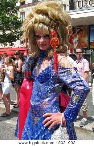 Crossdressing At Paris Gay Pride 2010