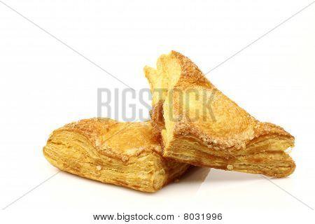 Freshly baked crispy apple turnovers