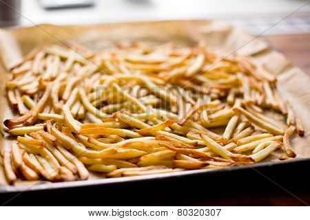 the french fries on roaster