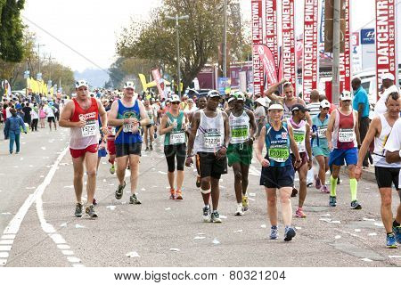Participants Competing In 2014 The Comrades Marathon Road Race