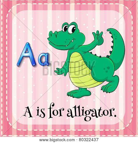 A letter A for alligator