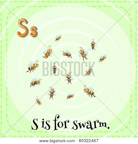 A letter S which stands for swarm