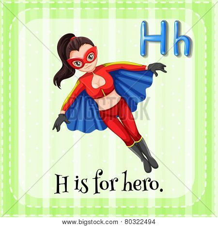 A letter H which stands for hero