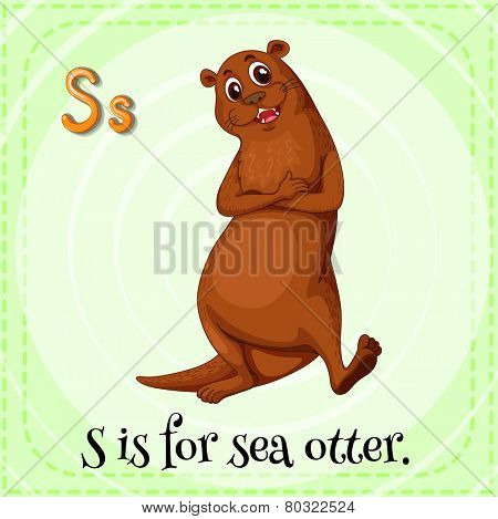 A letter S for sea otter