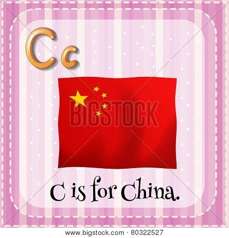 A letter C which stands for China
