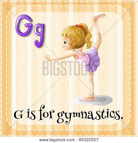 A letter G for gymnastics