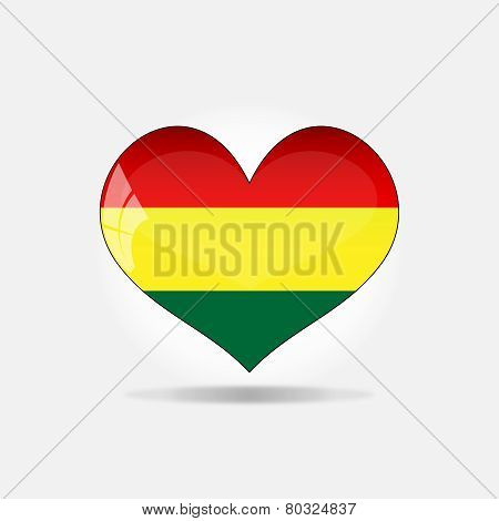 Heart With Bolivian Flag Colors