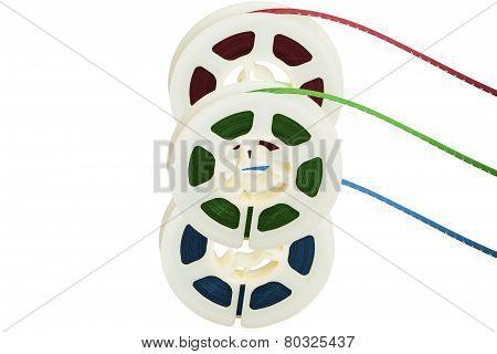 Three Film Tape Reels