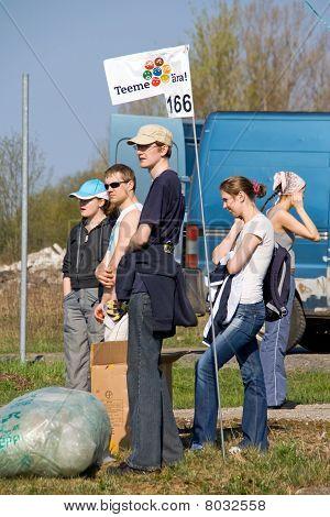 Volunteers Waiting For Job