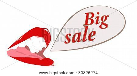 Female Mouth With Words Big Sale