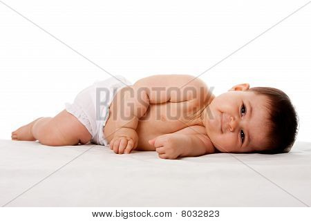 Peaceful Baby Laying On Side