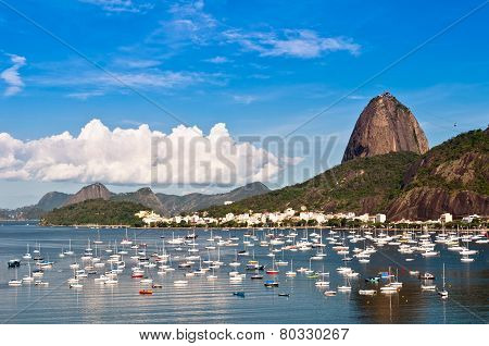 Nice view of Sugarloaf Mountain in Rio