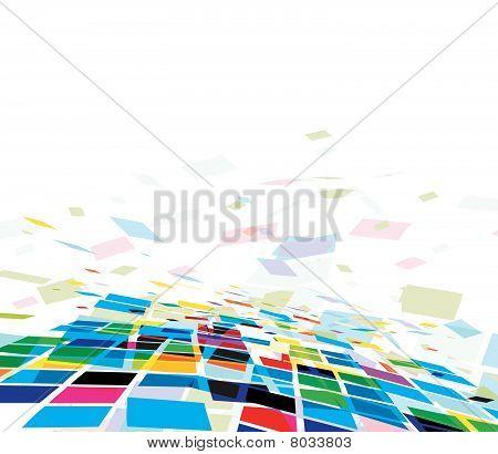Fundo colorido mosaico abstrato