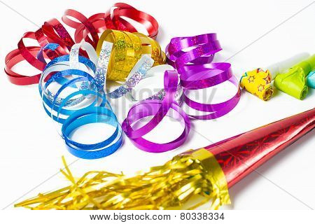 Item For Party, Colorful Serpentine And Blowers