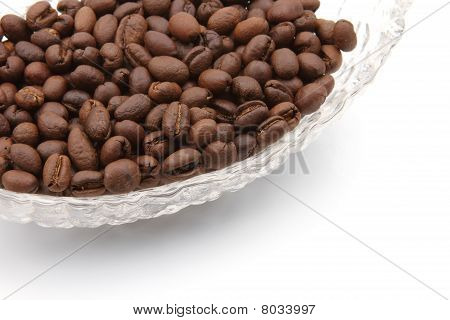 Bowl of coffee seeds