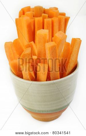 Carrots Sticks In Bowl
