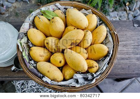 Mangoes In The Basket