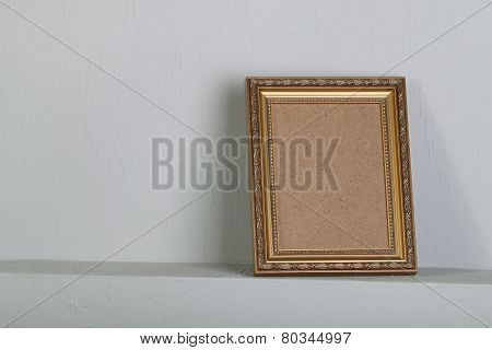 Golden Photo Frame With Space