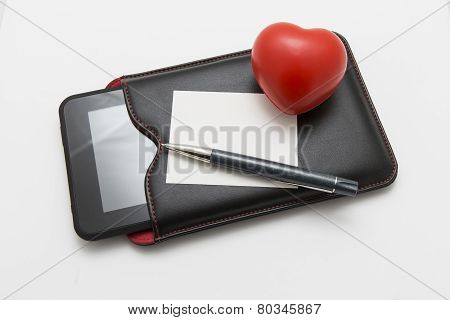 Heart With Pen And Tablet