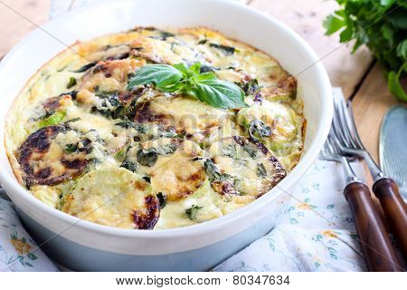 Courgette And Herb Gratin