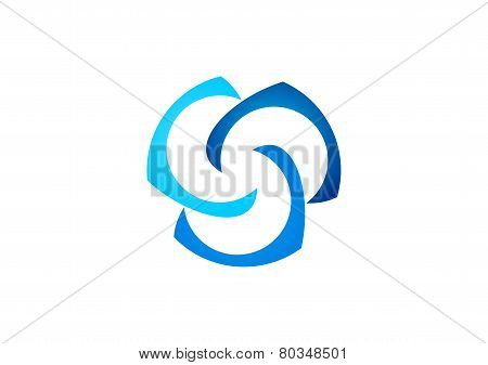 cloud logo,connection,abstract businness logotype,network illustration design vector,social,team,tea