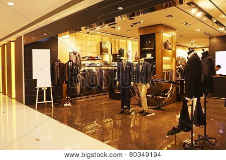 modern fashion shop storefront and showcase