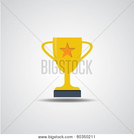 Vector Gold Cup Icon Illustration
