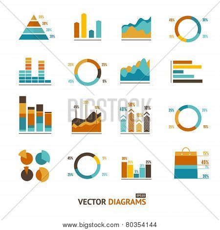 Infographic set elements, graph, diagrams.