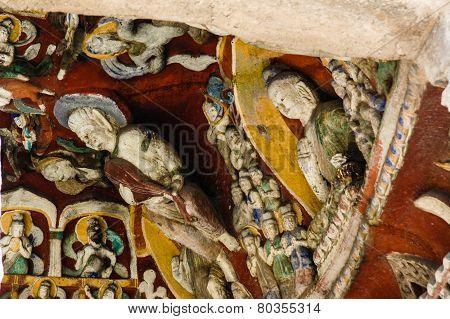 Bodhisattvas on the wall