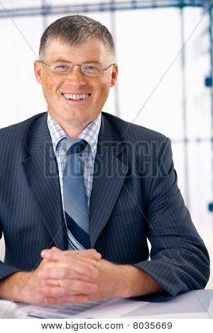 Smiling Elder Businessman.