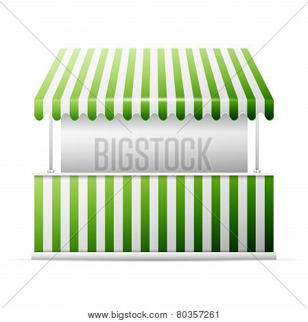 Isolated business stall,
