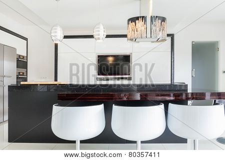 Designed Kitchen In Spacious House