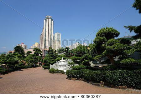 Public Nan Lian Garden with Chi Lin Nunnery, Diamond Hills, Hong Kong.