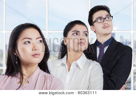 Confident Entrepreneurs Standing In A Row