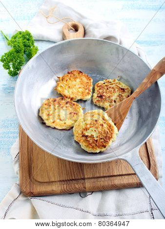 Cheese Courgette Dill Pancakes
