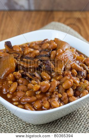 Baked Beans In A Bowl