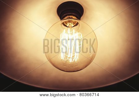 Old dusty light bulb