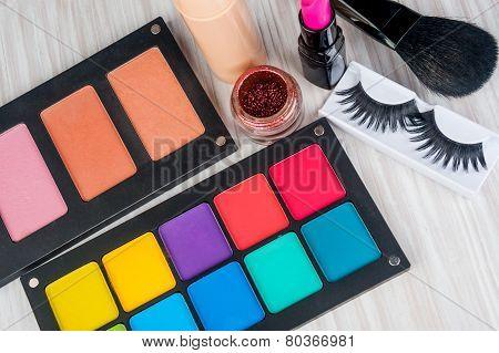 Set of professional makeup