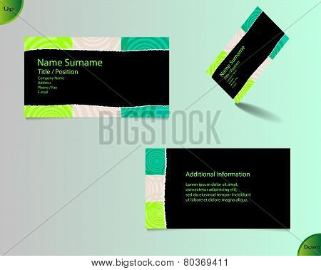 New Black Business Card Layout