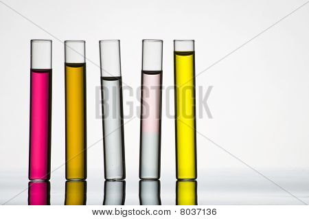 Five test tubes