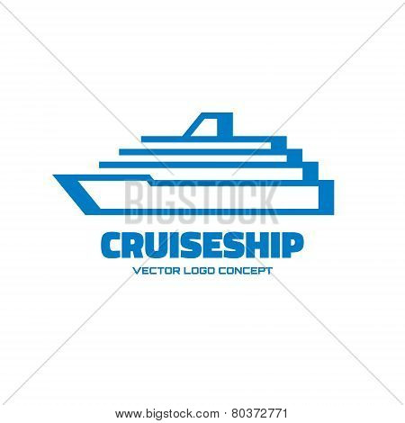 Cruise ship - vector logo concept illustration. Vector logo template. Design element.