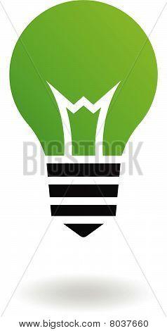 Green bulb icon