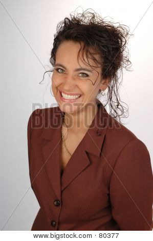 Business Woman Smilling