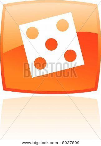 Orange dice icon