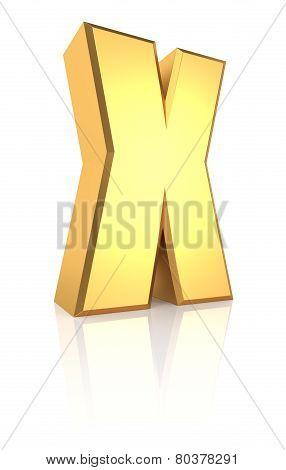 3D Letter X