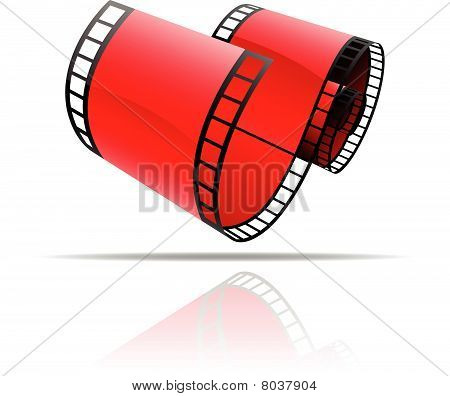 Red film reel icon