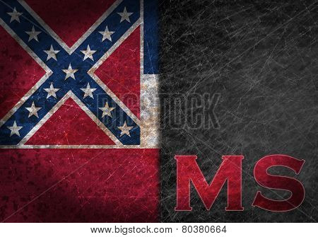 Old Rusty Metal Sign With A Flag And Country Abbreviation