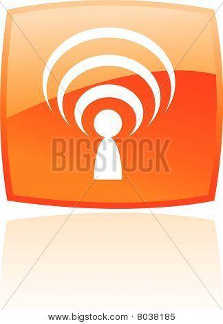 Glossy orange podcast