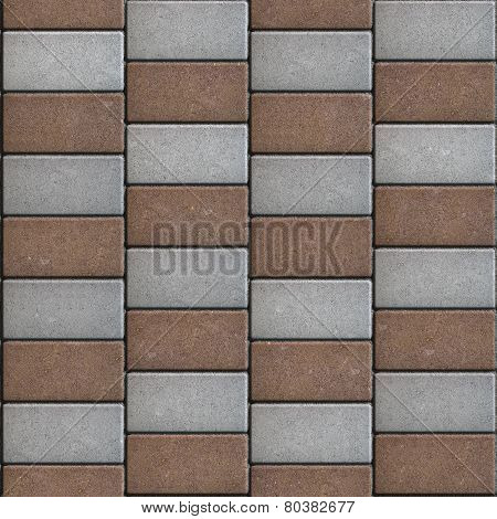 Rectangular Paving Slabs Laid as Chaotically. Seamless Texture.
