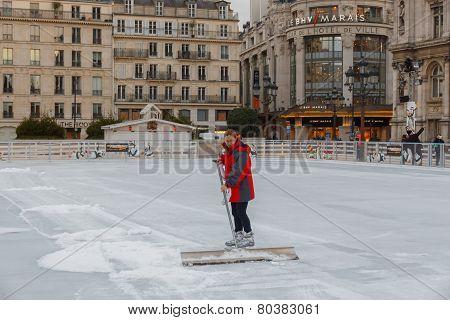 Paris. Ice Skating Rink.